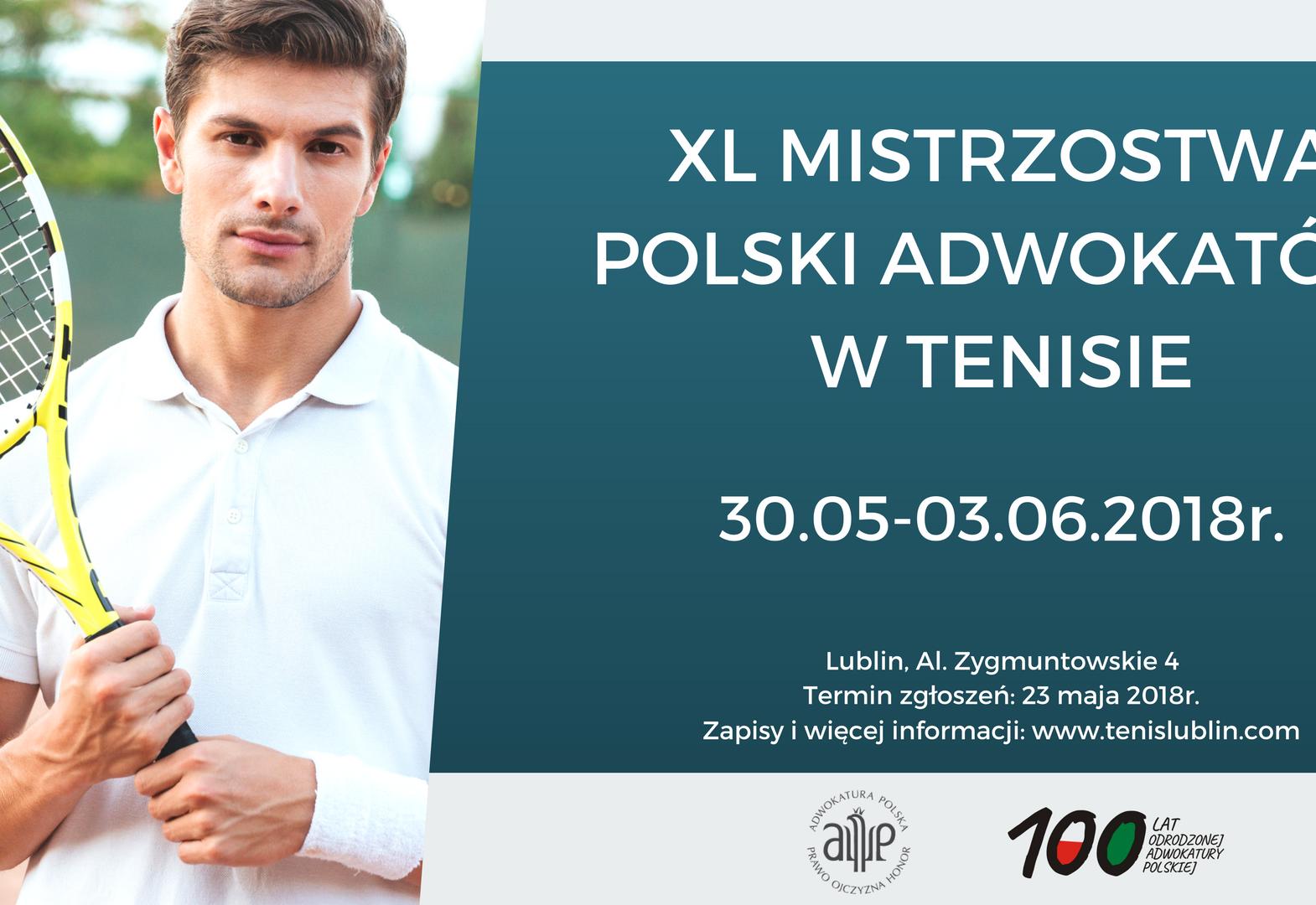 4507b39a1432553457 Fb Xl Png: XL Mistrzostwa Polski Adwokatów W Tenisie Ziemnym Lublin